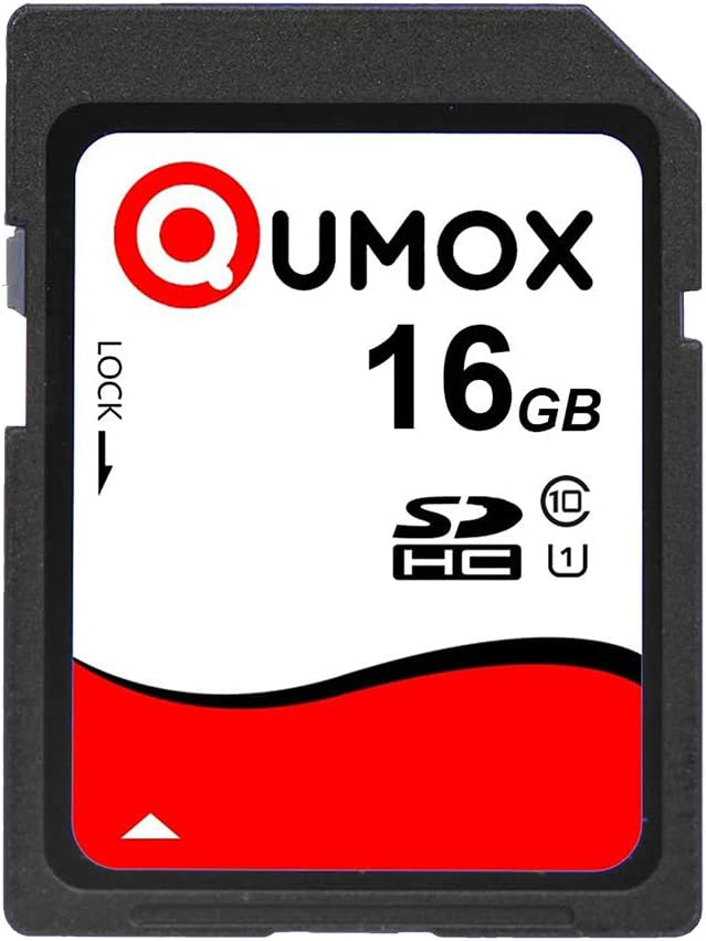 2Pcs Pack QUMOX 16GB SD HC 16 GB SDHC Class 10 UHS-I Secure Digital Memory Card HighSpeed Write Speed 15MB//S read speed up to 40MB//S