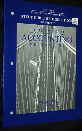 Fundamental Accounting Principles/Study Guide With Solutions