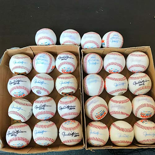 (Lot Of 28 Rollie Fingers Signed Autographed 341 Saves Special Edition Baseballs)