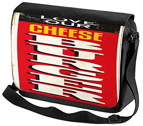 Umhänge Schulter Tasche Retro Cheeseburger bedruckt