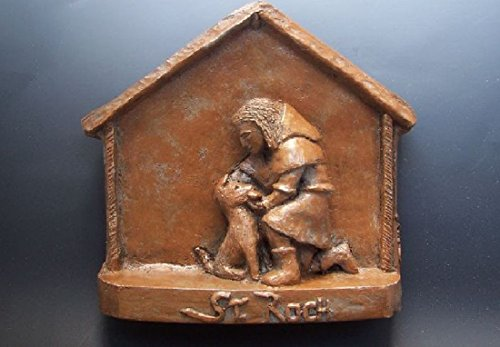 St. Roch: Patron Saint of Dogs: Handmade Statue from In the Company of Saints