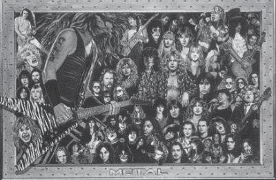 Heavy Metal Bands - Collage 24x36 Poster by Poster Revolution