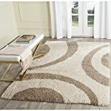 Safavieh Portofino Shag Collection PTS213B Ivory and Beige Area Rug (6'7 x 9'2) Review