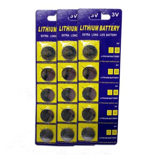 Mr. Light CR2025 3V Lithium Ion Batteries - 15 Pieces