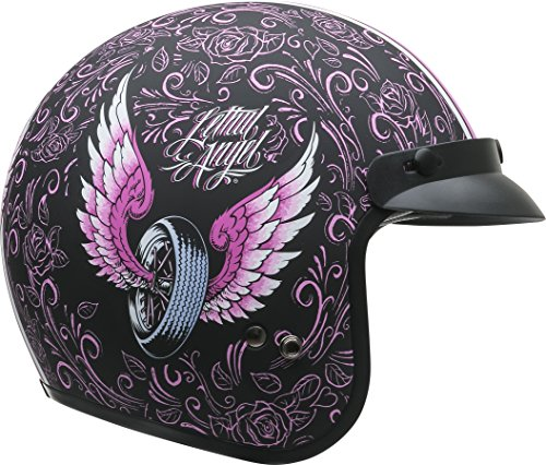 - Vega Helmets Unisex-Adult Open Face Motorcycle Helmet (Lethal Angel Graphic, Medium)