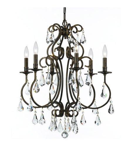 Amazon.com: Lámparas de araña 6 luz con English Bronce Claro ...