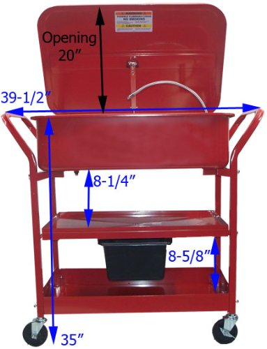 20 Gallon Mobile Parts Washer Cart by Generic (Image #1)