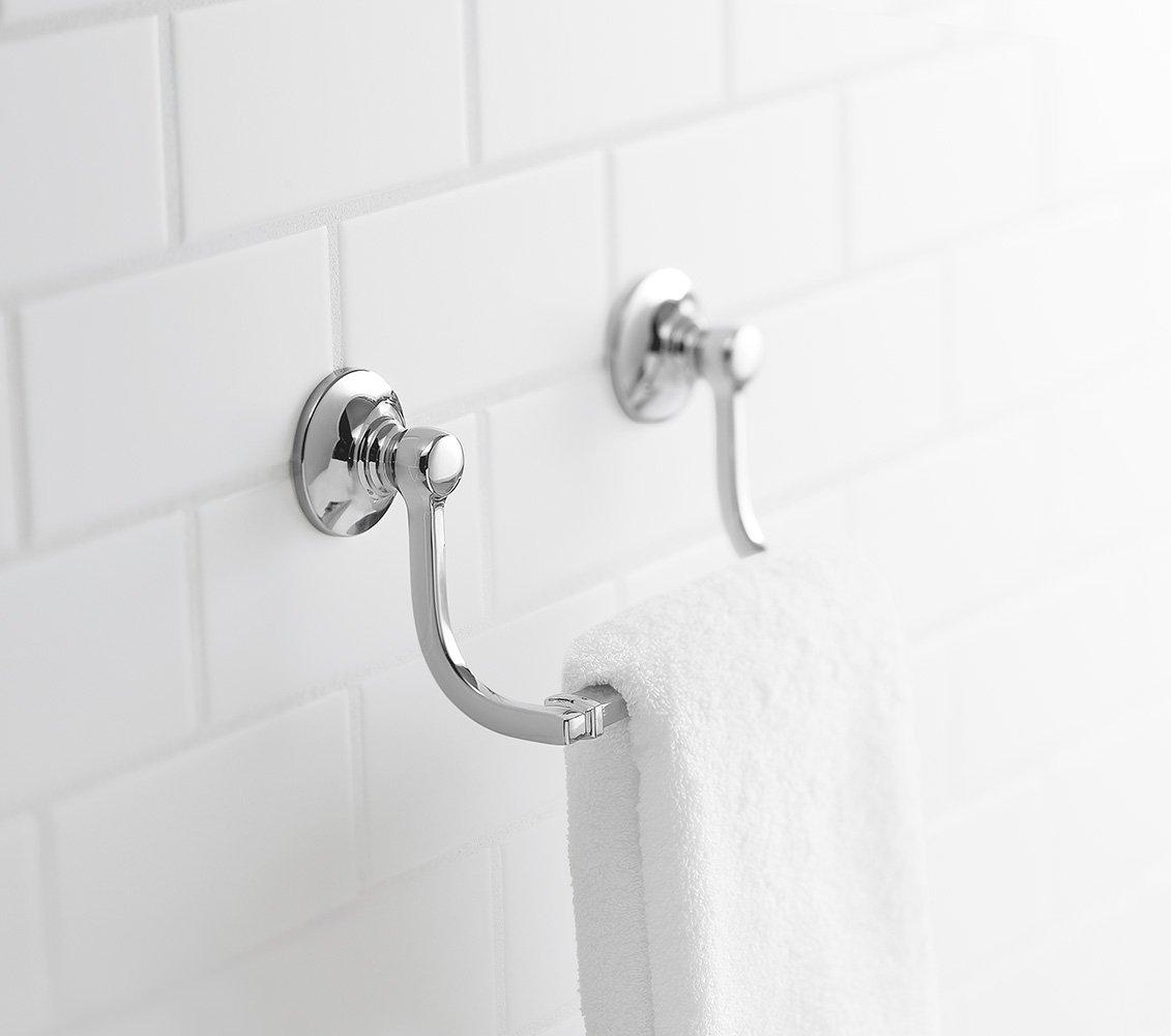 Vibrant Brushed Nickel KOHLER K-11416-BN Bancroft Hand Towel Holder