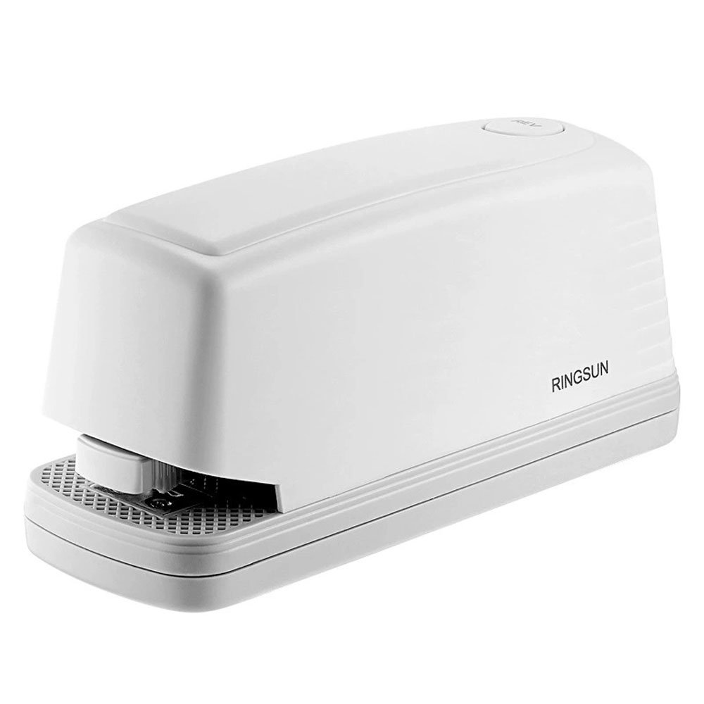 RB Electric Stapler Automatic Heavy Duty Portable Large Capacity 20 Sheets AC or Battery Power for Your Home & Office Supplies with AC Power Cable