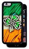 Irish Flag with Celtic Clover %2D Black