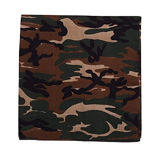 - Mechaly Paisley 100% Cotton Bandanas (Camouflage)