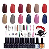 NDDN - Nail Polish Base And Top Coat Gel Polish Gel Polish Light Led Nail Polish Tools Tools Set System#12G-014