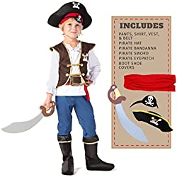 Spooktacular Creations Boys Pirate Costume Kids Deluxe Costume Set (Toddler 3-4)