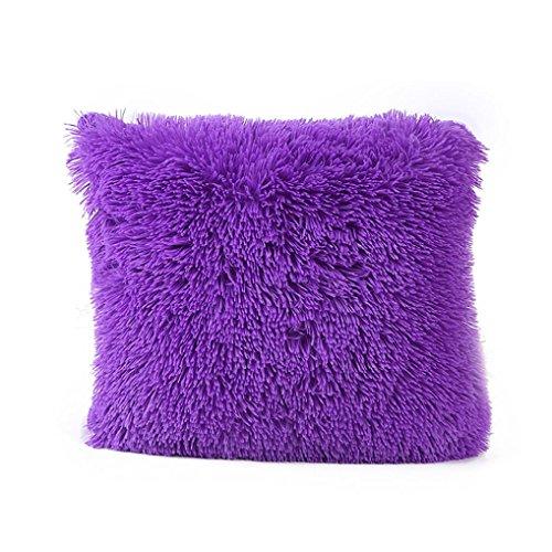 Pillow Case,Neartime Sofa Waist Throw Plush Cushion Cover Home Decor (Purple) (Purple Pillow Powder)