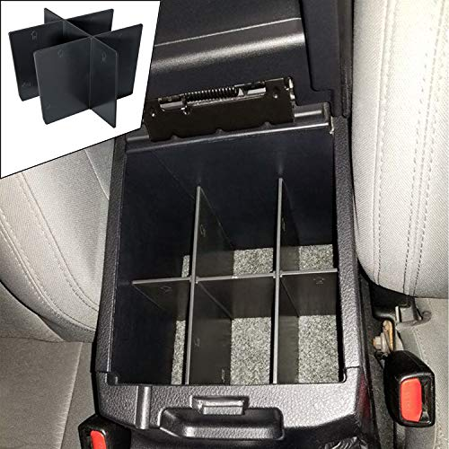 Price comparison product image JDMCAR for Toyota Tacoma 2016 2017 2018 2019,  Center Console Organizer Insert ABS Black Materials Dividers,  Armrest Box Secondary Storage