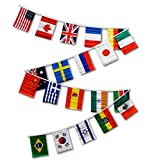 Cheap 30ft String Flag Set of 20 International Country Flags