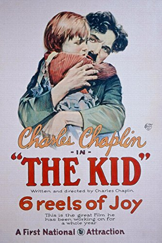 "Odsan Gallery The Kid, Charlie Chaplin, 1921 - Premium Movie Poster Reprint 24"" by 36"" Unframed"
