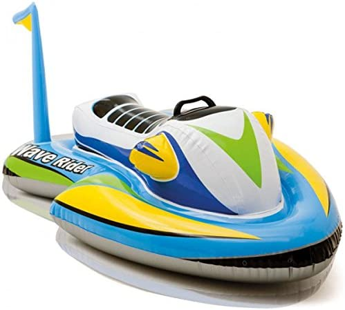 Moto acuática hinchable Wave Rider para montar de Intex, para niños. Juguete para piscina