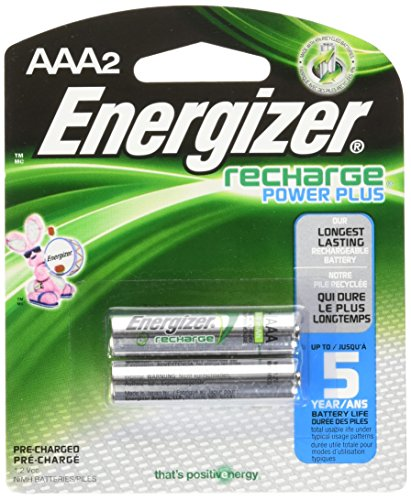Energizer Rechargeable AAA Batteries 850 mAh, 2-pack