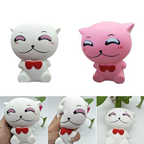 PerGrate - Juguetes para aliviar el estrés, lindos dibujos animados de gato, apriete lento, juguetes para niños, regalo para adultos, antiestrés, ...