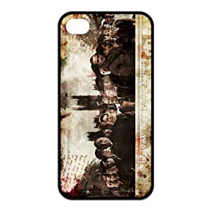 Downton Abbey Pattern Design Solid Rubber Customized Cover Case for iPhone 4 4s 4s-linda435