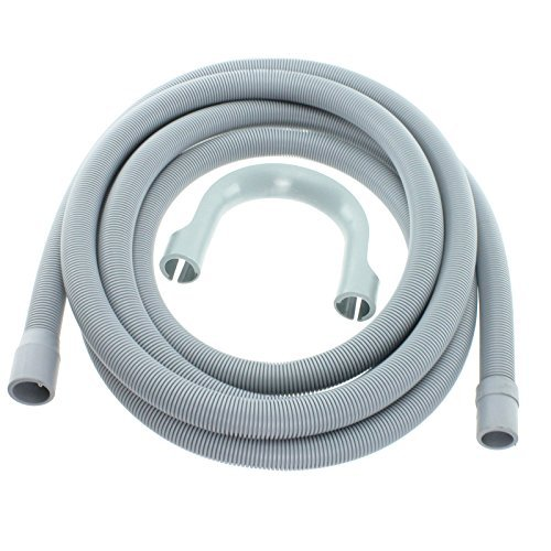 Spares2go Drain Hose Extra Long Water Pipe For Aeg Washing Machine (4.1M 19Mm & 22Mm Connection)