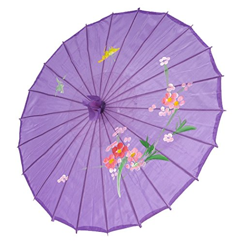 - JapanBargain S-2173, Kid's Size Chinese Japanese Oriental Parasol Umbrella 22-inch, Purple Color