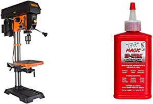 WEN 4214 12-Inch Variable Speed Drill Press,Orange & Forney 20857 Tap Magic Industrial Pro Cutting Fluid, 4 oz