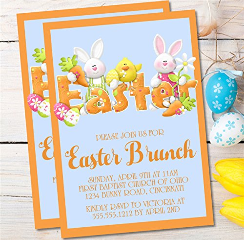 (Personalized Easter Brunch Invitations, Easter Egg Hunt Invitations, Easter Party Invitations, Easter Dinner Invitations, You Choose Event Type)