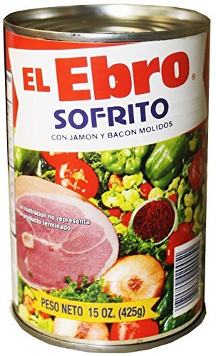 El Ebro Sofrito Seasoning with Ground Ham & Bacon 15oz 4 Pack