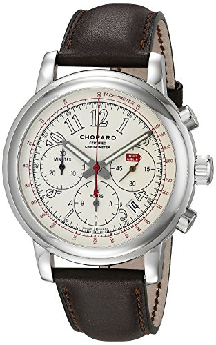 Chopard-Mens-168511-3036-LBR-Stainless-Steel-Watch-with-Brown-Band