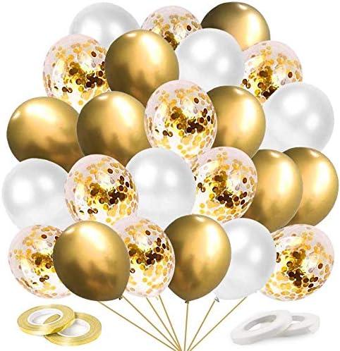 Konfetti Luftballon Party Set Rot Geburtstag Party Hochzeit JGA Ballons 63 tlg