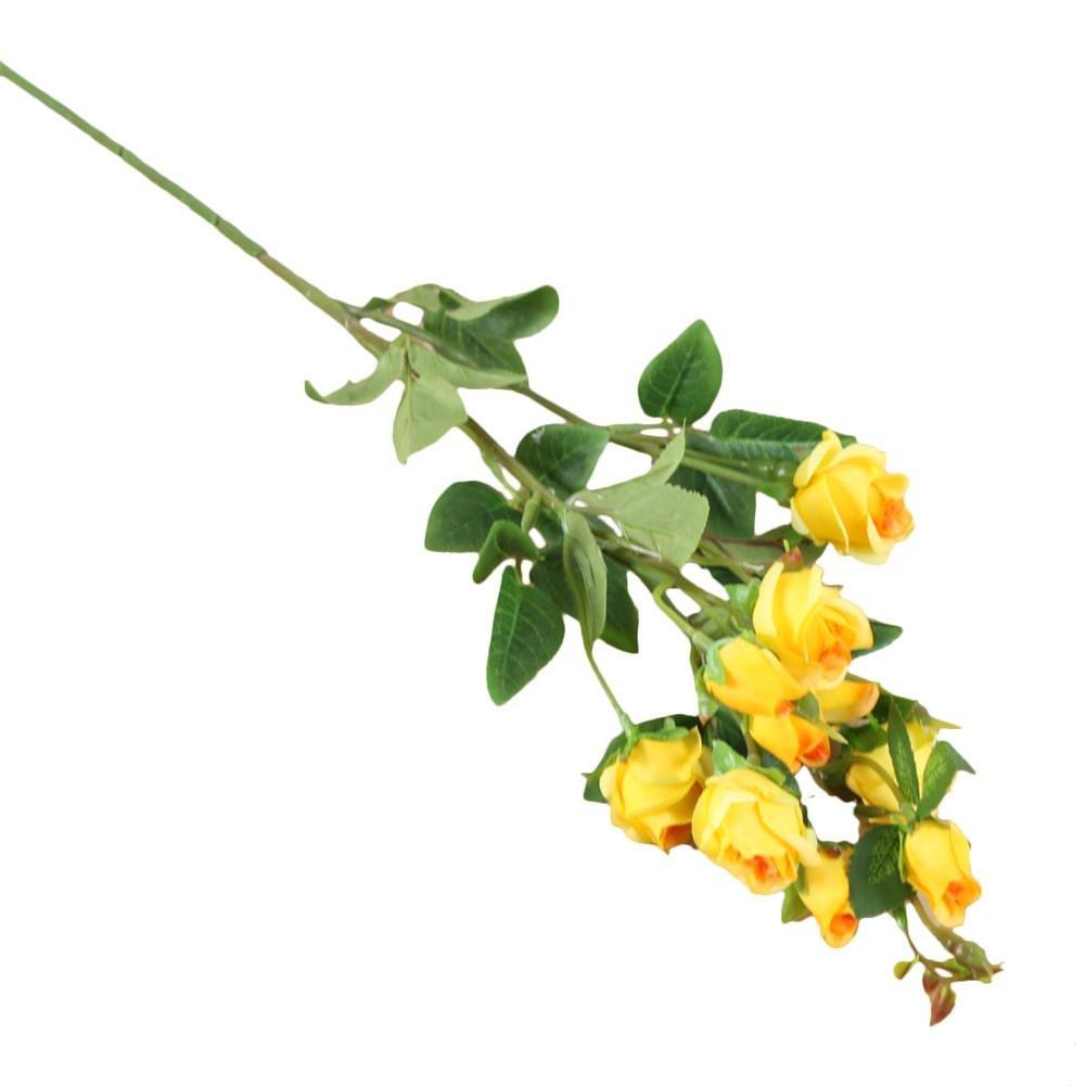 wonderfulwu 造花 造花 バラの花 結婚式や家の背景に 壁の装飾ブーケ イエロー EF0005801 wuus B07HB8PYS6 イエロー