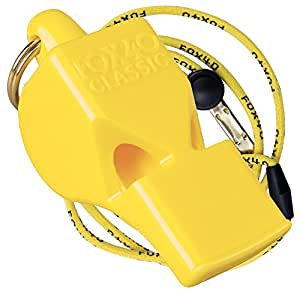 Fox 40 Classic Pealess Whistle with Lanyard - Yellow