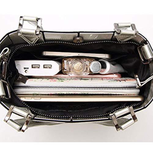 23 18cm Donne Fashion Tracolla Bianca Selvaggio Delle colore Bianca Capienza Borsa Di Grande Pu Dimensioni x7gOnwBT7F
