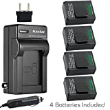 Kastar GOPRO3 Battery (4-Pack) and Charger Kit for GoPro HD HERO3 - HERO3+ - AHDBT-302 Work with GoPro AHDBT-201 - AHDBT-301 - AHDBT-302