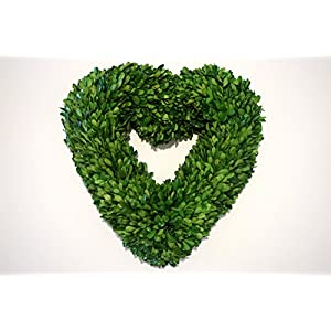 Tradingsmith Preserved Boxwood Heart Wreath 16 in 25