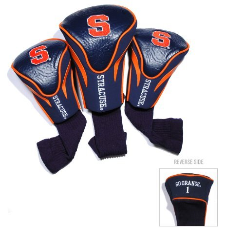 Headcovers Pack Golf 3 (Team Golf NCAA Golf Headcovers, Syracuse (Pack of 3))