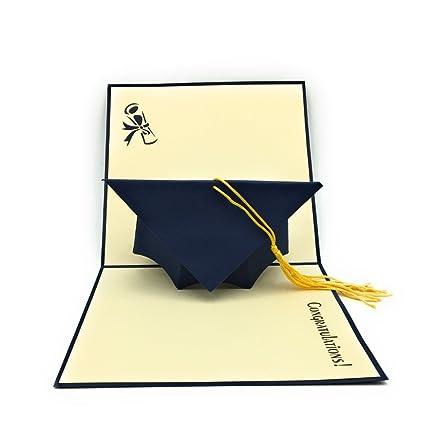 11ee07f7b3261 HANDMADE GRADUATION CAP POP UP CARD - Ideal for highschool college  university masters and PhD Graduates!