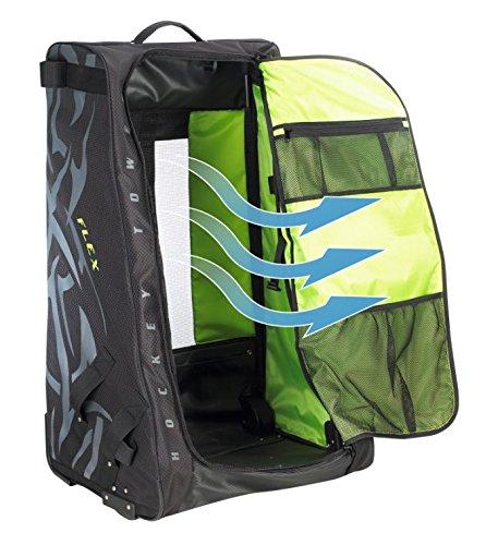Grit Inc. Flex Hockey Tower Medium Equipment Bag 33-Inch, Black FLX1-033-B by Grit (Image #4)