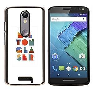 Arte Moderno I colorido O N A L S- Metal de aluminio y de plástico duro Caja del teléfono - Negro - Motorola Droid Turbo 2 / Moto X Force