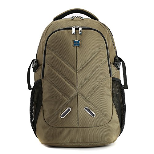 "Kingsons KS3097W Mens Basics 15.6"" Laptop Backpack Multi-function Shoulder Bag Shockproof Business Bag (Army Green)"