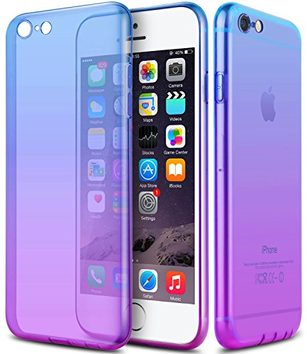 iPhone 6s Case,CLONG iPhone 6 6s Cover Colorful Clear Shell Slim Case Translucent Impact Resistant Flexible TPU Soft Bumper Case Protective Shell for Apple iPhone 6/6S 4.7 (Apple Iphone Clear Shell Cover)