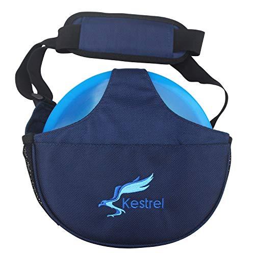 (Kestrel Weekday Disc Golf Bag + eBOOK   Fits 5-7 Discs   for Beginner and Advanced Disc Golf Players   (Blue))