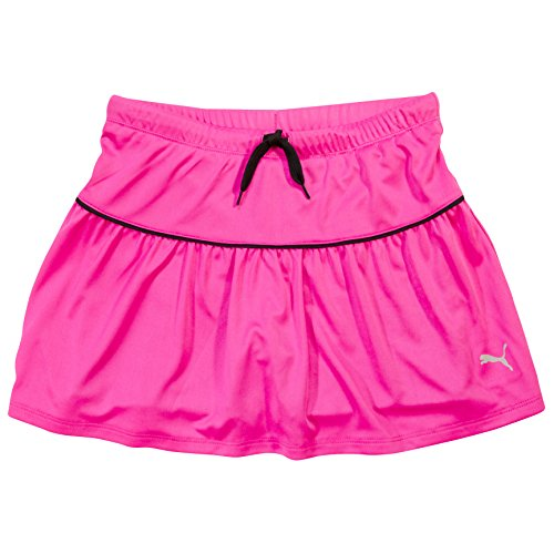 PUMA Girls Athletic Tennis Skort Running Active Yoga Gym Mesh Activewear Pink 4 (Toddler Girls Swim Skirt)