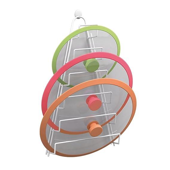Metaltex Mango - Colgador para 4 tapaderas, color gris metalizado: Amazon.es: Hogar