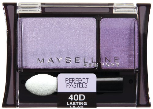 Maybelline New York Expert Wear Eyeshadow Duos, 40d Lasting Lilac Perfect Pastels, 0.08 Ounce