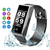 Mateyou MATE1 Fitness Tracker with Heart Rate & Blood Pressure Monitor for iOS & Android, Waterproof Activity Tracker with Sleep Monitor & Alarm, smartwatch with Calorie & Step Counter