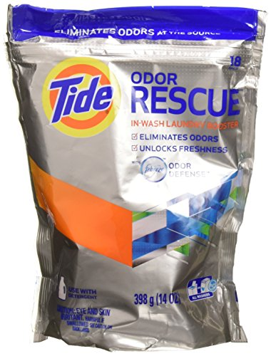 (Tide Odor Rescue with Febreze Odor Defense in-Wash Laundry Booster Pacs, 18 Count (Pack of 2))