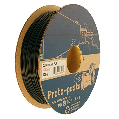 Proto-pasta CDP11705 Electrically Conductive Carbon Spool , PLA Composite 1.75 mm, 500 g , Black
